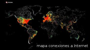Mapa con los dispositivos conectados a internet